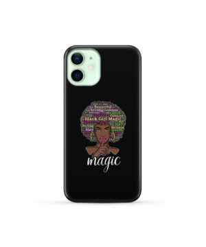 2bunz Melanin Poppin Aba for Personalised iPhone 12 Mini Case Cover
