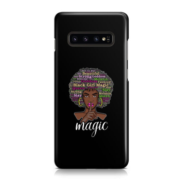 2bunz Melanin Poppin Aba for Stylish Samsung Galaxy S10 Case Cover