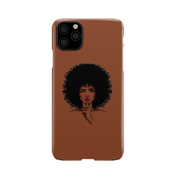 Afro American Girl Art for Cute iPhone 11 Pro Max Case Cover