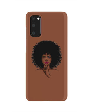 Afro American Girl Art for Cute Samsung Galaxy S20 Case