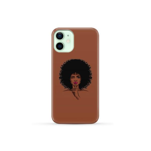 Afro American Girl Art for Trendy iPhone 12 Mini Case