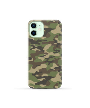 Army Green Military Camouflage for Cute iPhone 12 Mini Case Cover