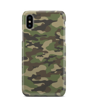 Army Green Military Camouflage for Simple iPhone X / XS Case