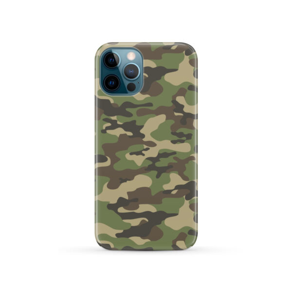 Army Green Military Camouflage for Trendy iPhone 12 Pro Case Cover