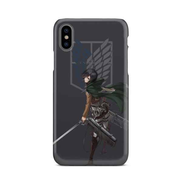 Attack On Titans Mikasa for Custom iPhone X / XS Case
