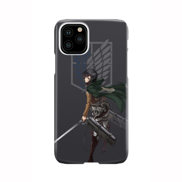 Attack On Titans Mikasa for Newest iPhone 11 Pro Case Cover