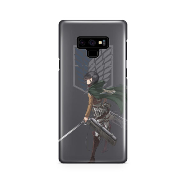 Attack On Titans Mikasa for Personalised Samsung Galaxy Note 9 Case Cover