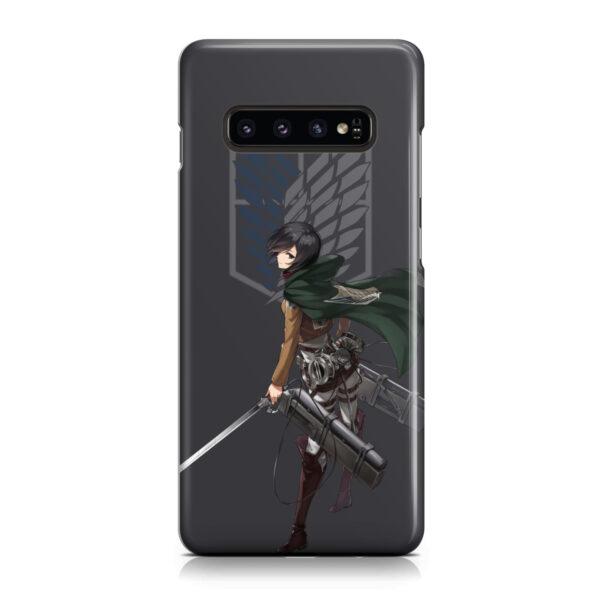 Attack On Titans Mikasa for Simple Samsung Galaxy S10 Plus Case Cover