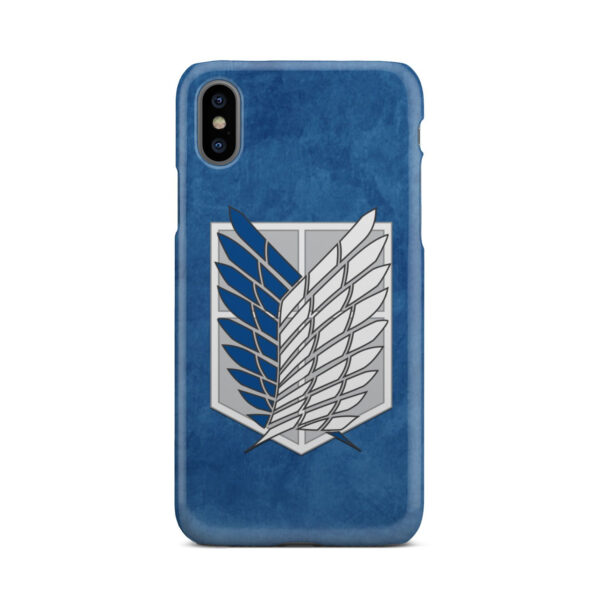 Attack On Titans Recon Corps for Simple iPhone X / XS Case Cover