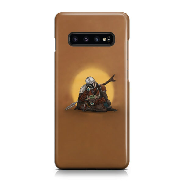 Baby Yoda and The Mandalorian for Customized Samsung Galaxy S10 Plus Case