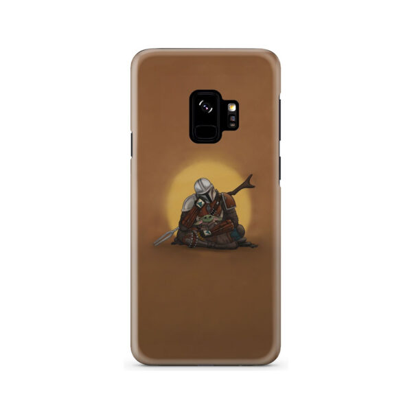 Baby Yoda and The Mandalorian for Customized Samsung Galaxy S9 Case Cover