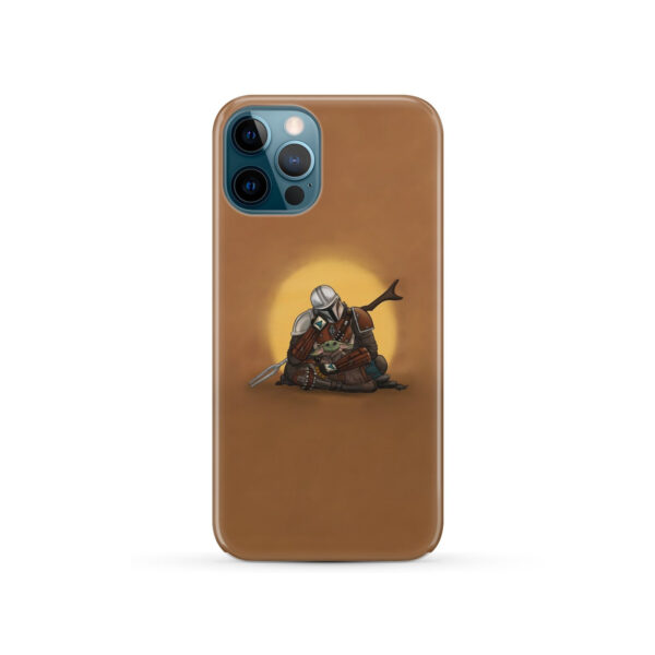 Baby Yoda and The Mandalorian for Cute iPhone 12 Pro Case Cover