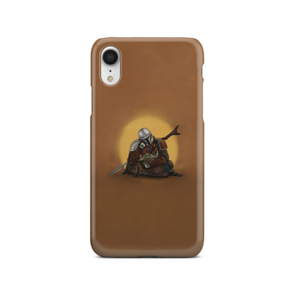 Baby Yoda and The Mandalorian for Cute iPhone XR Case