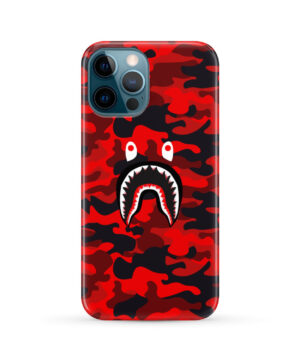 Bape Shark Red Camo for Amazing iPhone 12 Pro Max Case