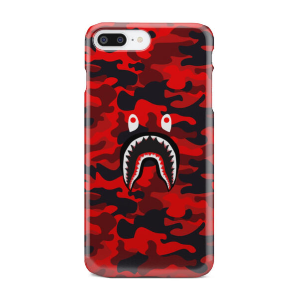 Bape Shark Red Camo for Amazing iPhone 8 Plus Case Cover