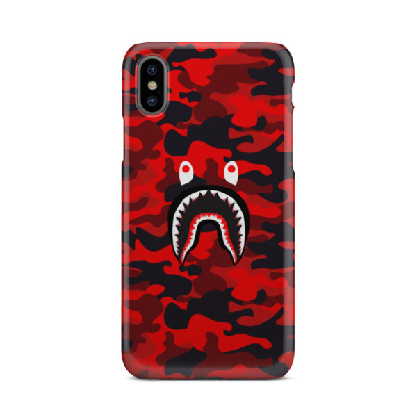 Bape Shark Red Camo for Amazing iPhone X / XS Case Cover