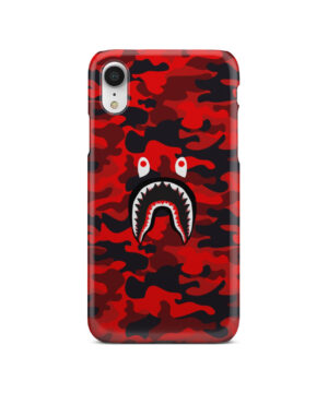 Bape Shark Red Camo for Amazing iPhone XR Case Cover