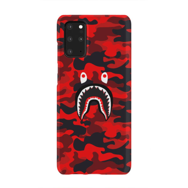 Bape Shark Red Camo for Beautiful Samsung Galaxy S20 Plus Case Cover