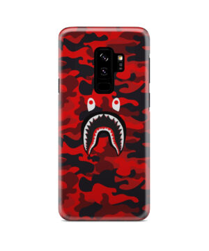 Bape Shark Red Camo for Beautiful Samsung Galaxy S9 Plus Case