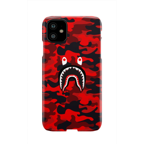Bape Shark Red Camo for Best iPhone 11 Case Cover