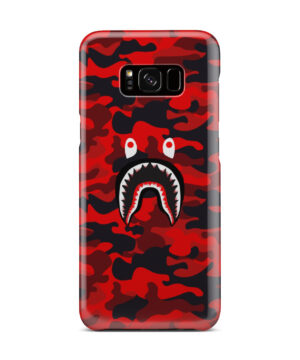 Bape Shark Red Camo for Best Samsung Galaxy S8 Plus Case Cover