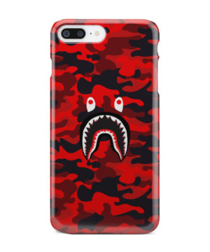 Bape Shark Red Camo for Cool iPhone 7 Plus Case