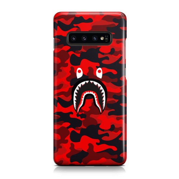 Bape Shark Red Camo for Cool Samsung Galaxy S10 Plus Case Cover