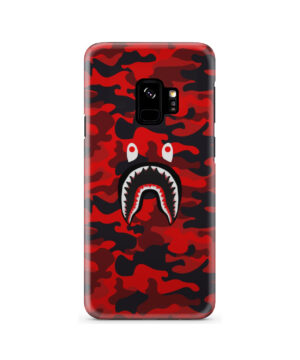 Bape Shark Red Camo for Cool Samsung Galaxy S9 Case