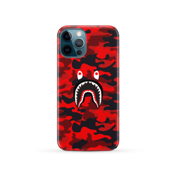 Bape Shark Red Camo for Custom iPhone 12 Pro Case Cover