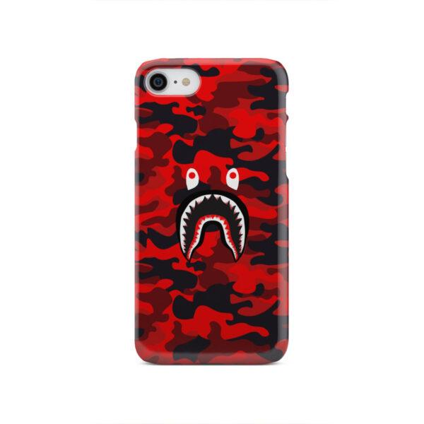 Bape Shark Red Camo for Custom iPhone SE 2020 Case Cover