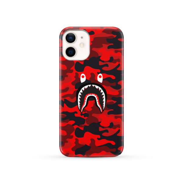 Bape Shark Red Camo for Newest iPhone 12 Case Cover