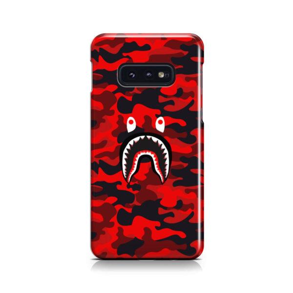 Bape Shark Red Camo for Newest Samsung Galaxy S10e Case Cover