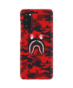 Bape Shark Red Camo for Newest Samsung Galaxy S20 Case Cover