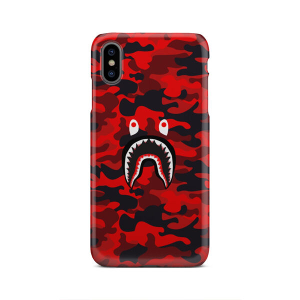 Bape Shark Red Camo for Nice iPhone XS Max Case Cover
