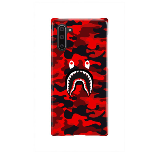 Bape Shark Red Camo for Nice Samsung Galaxy Note 10 Case Cover