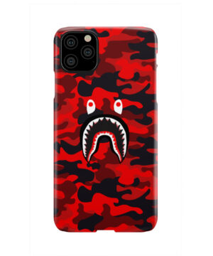 Bape Shark Red Camo for Personalised iPhone 11 Pro Max Case