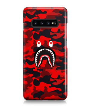 Bape Shark Red Camo for Personalised Samsung Galaxy S10 Case