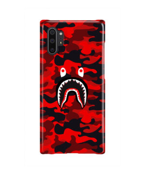 Bape Shark Red Camo for Premium Samsung Galaxy Note 10 Plus Case