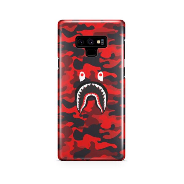 Bape Shark Red Camo for Premium Samsung Galaxy Note 9 Case