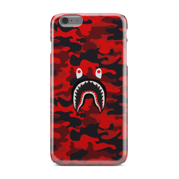 Bape Shark Red Camo for Simple iPhone 6 Plus Case Cover