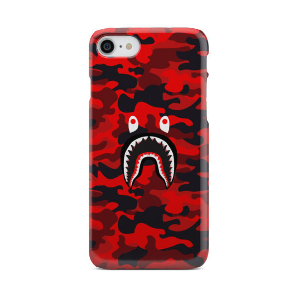 Bape Shark Red Camo for Simple iPhone 8 Case