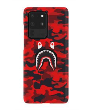 Bape Shark Red Camo for Simple Samsung Galaxy S20 Ultra Case