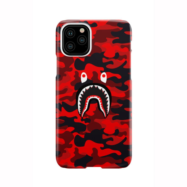 Bape Shark Red Camo for Trendy iPhone 11 Pro Case Cover