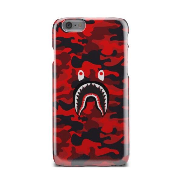 Bape Shark Red Camo for Unique iPhone 6 Case