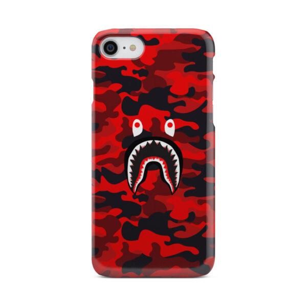 Bape Shark Red Camo for Unique iPhone 7 Case Cover