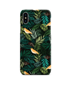 Beautiful Bird Leaf Nature for Customized iPhone X / XS Case