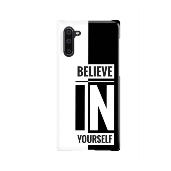 Believe In Yourself Motivational Quotes for Beautiful Samsung Galaxy Note 10 Case Cover