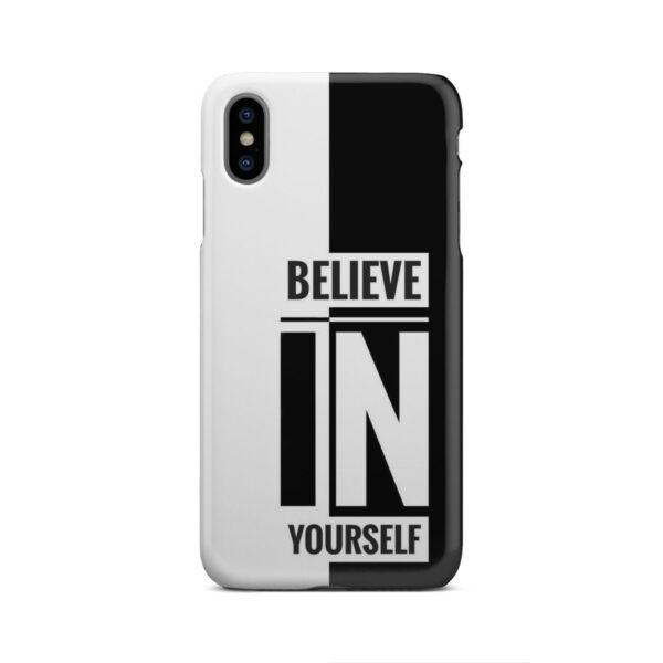 Believe In Yourself Motivational Quotes for Cute iPhone XS Max Case Cover