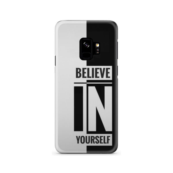 Believe In Yourself Motivational Quotes for Personalised Samsung Galaxy S9 Case Cover