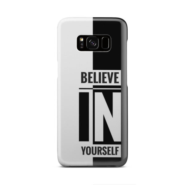 Believe In Yourself Motivational Quotes for Simple Samsung Galaxy S8 Case